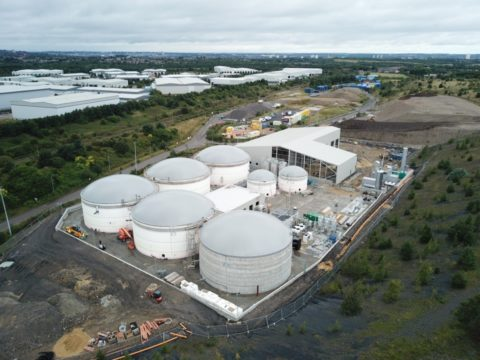Wardley Biogas AD plant, an arial view